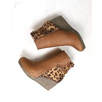 Final Sale - Sbicca Vintage Collection - Alexandria  Strappy Wedge Bootie - Tan
