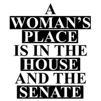 A Woman's Place is in the House and the Senate Decal
