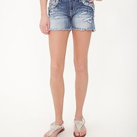Miss Me Frayed Easy Stretch Short
