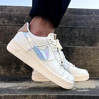 "NIKE Air Force 1 High ""Nai Ke""THE BUND  Jester  Low-end men's and women's sneakers"