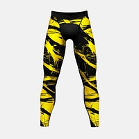 Fury yellow and black Tights for men