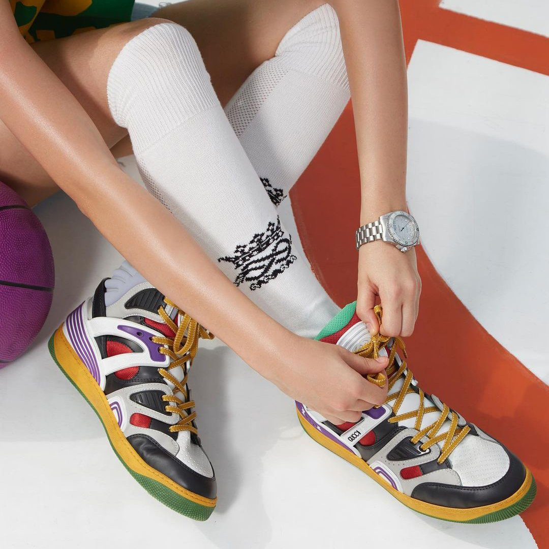 Image of GG Basket Men's and Women's Fashion Sneakers Shoes
