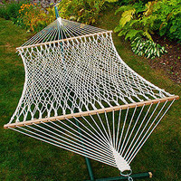Cotton Rope 2 Person Hammock   Outdoor and Patio Furniture  Furniture   World Market