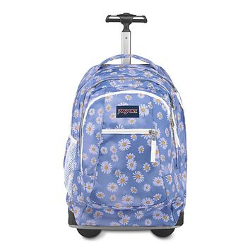 JanSport Driver 8 Rolling Backpack - Wheeled Travel Bag with 15-Inch Laptop Sleeve Daisy Haze