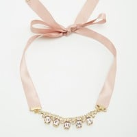 Neve & Eve Ribbon Tie Statement Necklace at asos.com