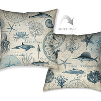 Ocean Life Indoor Decorative Pillow