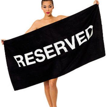 Present Time Beach Towel Reserved