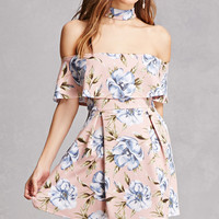 Tropical Print Choker Dress