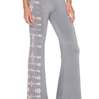 Gypsy 05 Bamboo Wide Leg Pant in Laelia Silver