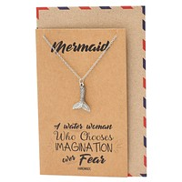 Krizel Mermaid Tail Pendant Necklace Best Gift for Women and Ocean Lover