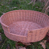 Wicker Dog Bed, Pet Bed, Dog/Cat Basket, Medium Dog Wicker Basket, Pet Basket, Natural Material Dog Bed, Wicker Dog Basket