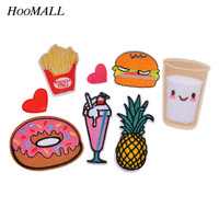 Hoomall 8PCs Mixed Patches For Clothing Iron On Embroidered Appliques DIY Apparel Accessories Patches