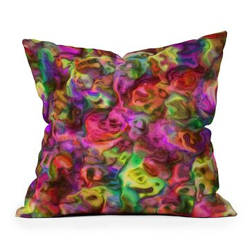 Lisa Argyropoulos Colour Aquatica Passion Pink Throw Pillow