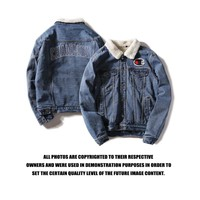Champion Cashmere denim Coat M-2XL