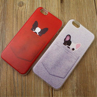 Cute Pocket Dog Print iPhone 5/5S/6/6S/6 Plus/6S Plus Case Very Light Case-13