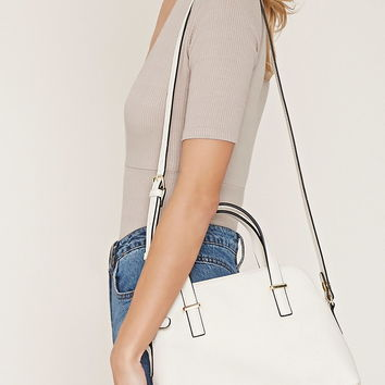 Faux Leather Satchel | Forever 21 - 1000152418