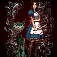Alice's Madness Art Print by CromMorc