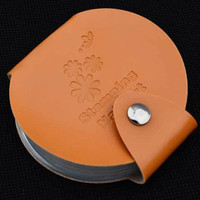 24 Slots Stamping Nail Art DIY Image Plate Template Holder Case Bag Stamp Organizer PU leather Anne GS
