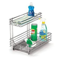 Household Essentials, 12 in. Under Sink Sliding Organizer-KD Chrome, C26512-1 at The Home Depot - Mobile
