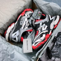 New Season Balenciaga Track 2 Trainers Grey/ Black/ Red - Best Online Sale