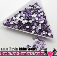 4mm 1000 pc Light Purple Flatback Resin Rhinestones (RR11)