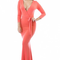 Priscilla Maxi Dress - Peach- FINAL SALE
