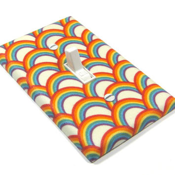 Rainbows Light Switch Cover Rainbow Bedroom Decor Decorative Switchplate Switch Plate 1403