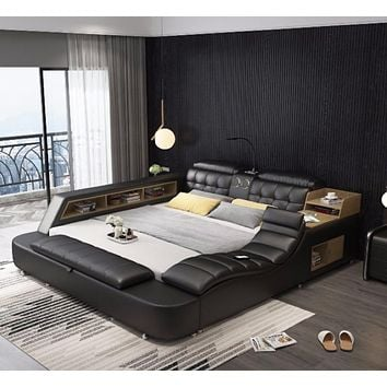 Leather Comfort Bed For Home Furniture