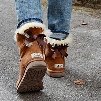 UGG single bow mid-cut snow boots Shoes