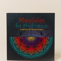 Mandalas Meditation Scratch Off Book