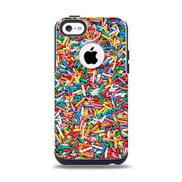The Colorful Candy Sprinkles Apple iPhone 5c Otterbox Commuter Case Skin Set