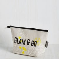 Travel Fancy for the Road Makeup Bag by Disaster Designs from ModCloth