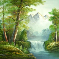 Springtime in the Forest Canvas Wall Art