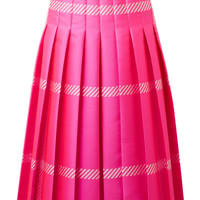 Fendi - Pleated checked jacquard midi skirt