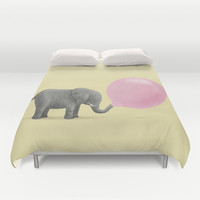 Jumbo Bubble Gum Duvet Cover by Terry Fan