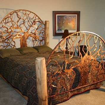 The Durango queen size hand made bed by jrf0726 on Etsy