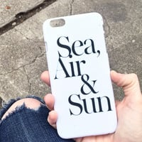 Sea, Air + Sun iPhone Case