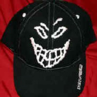 Disturbed Hat Face Logo Black Size Large XL