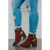 I'll Show You Booties: Cognac/Multi