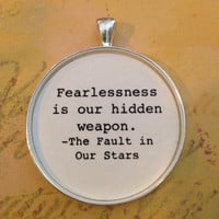 TFIOS Literary Quote Pendant or Key Chain Silver or Bronze Glass Dome