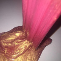 Blushing// A rose gold pigmented unscented clear glue slime