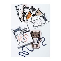 Baby Animal Lacing Cards