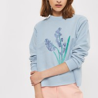 Bluebell Embroidered Sweatshirt by Tee & Cake | Topshop
