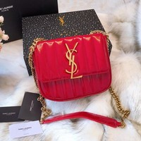 YSL Leather Crossbody Shoulder Bag