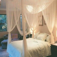 High Quality Hot 1Pc Elegant Lace Insect Bed Canopy Netting Curtain Dome Mosquito Net Worldwide 4