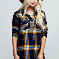 Volcom Love Me Not Flannel Long Sleeve Top - Womens Shirts