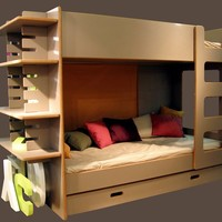 Wood-product bunk bed DAVID Collection by Mathy by Bols | design David Enthoven