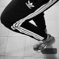 """adidas"" Pants Summer Couple Sports Stripes Skinny Pants [11004380743]"