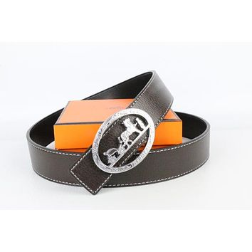 Hermes belt men's and women's casual casual style H letter fashion belt175