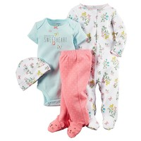 Carter's Flower ''Daddy's Sweetheart'' Sleep & Play Set - Baby Girl, Size: